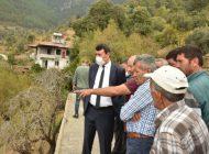 Başkan Kılınç, yangın bölgesini ziyaret etti