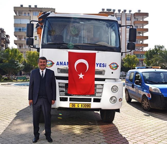 Anamur Belediyesinin 38.aracı'da hizmette