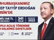 Erdoğan, cuma günü Mersin'de