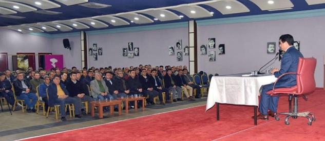 Başkan Türe, personelle istişare toplantısı yaptı