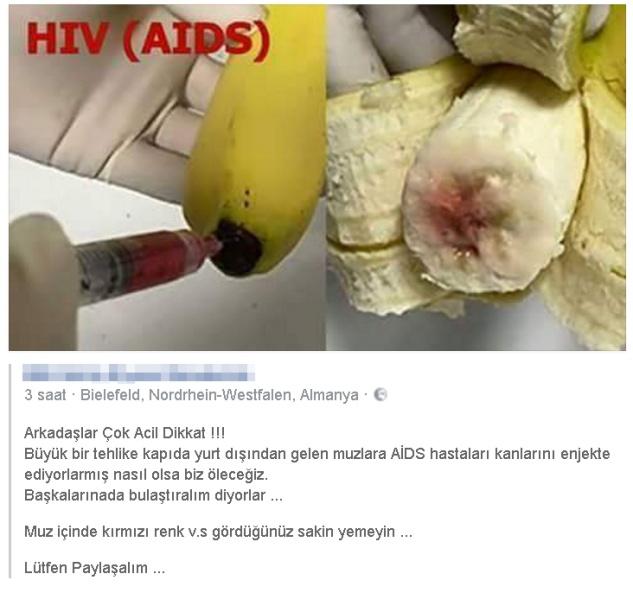 Dikkat! İthal muzda Büyük tehlike AIDS iddiası