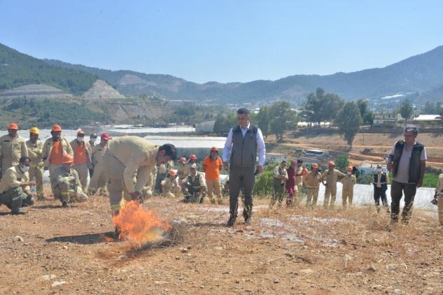 Anamur ve Bozyazı'da yangın tatbikatı