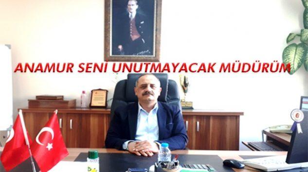 Vergi Dairesi Müdürü Kuddusi Akdağ Anamur'a veda ediyor