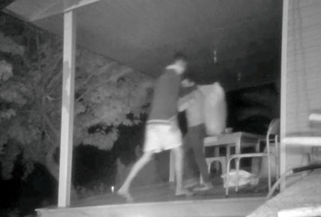 Tohum hırsızları kameraya yakalandı